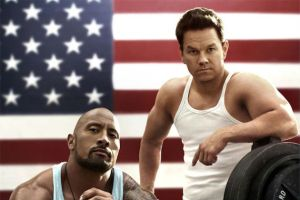 Marky Mark did NOT want me to write my essay. His biceps told me so.